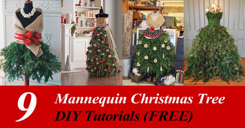 diy mannequin christmas tree 9 dress form tutorials free