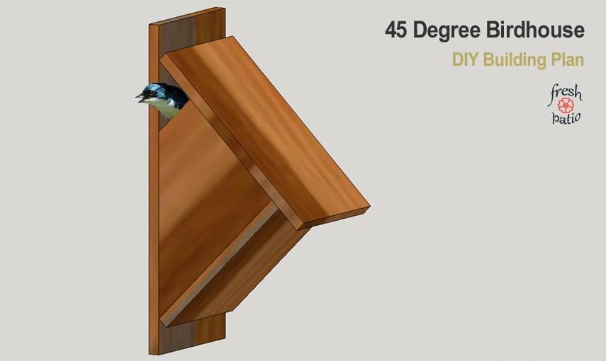 45 degree birdhouse design plan