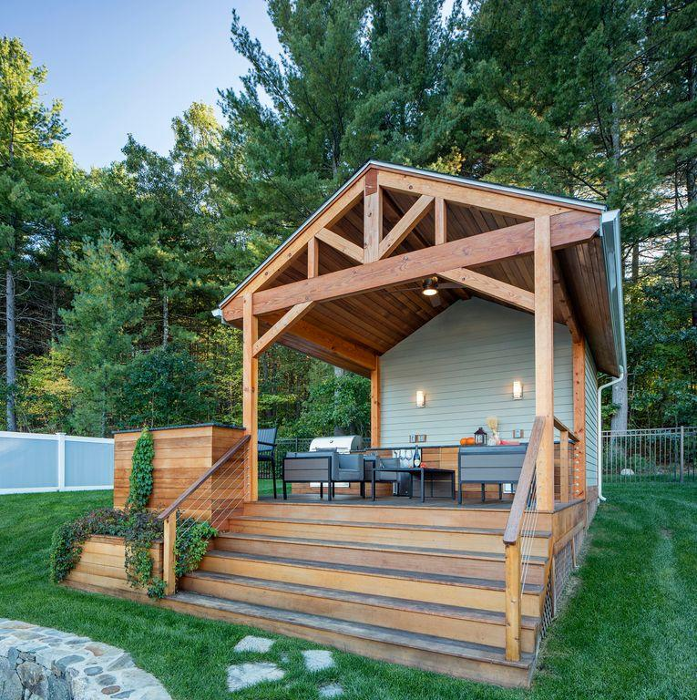 Elevated and fully covered deck idea