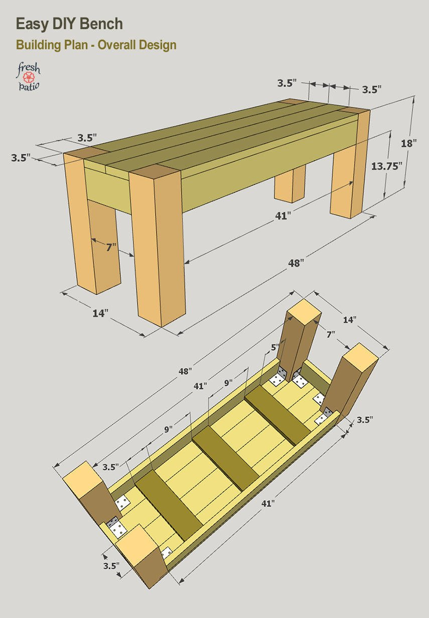 Easy DIY Bench Plan for Interior