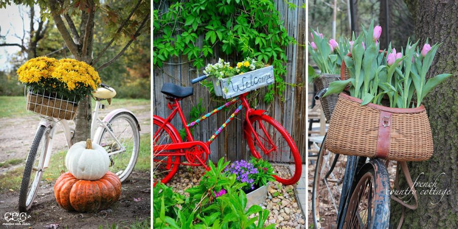 Bicycle Flower Planters - DIY Tutorials & Ideas