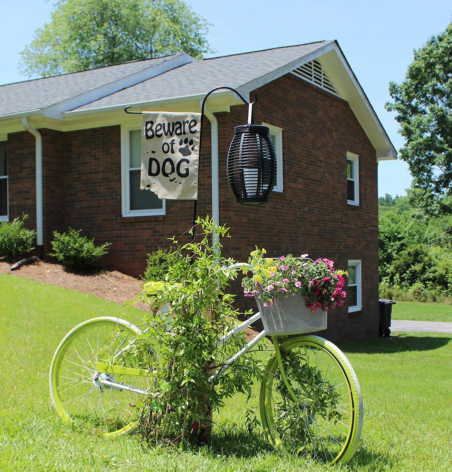 How to Make an old Bike into a Yard Art Planter