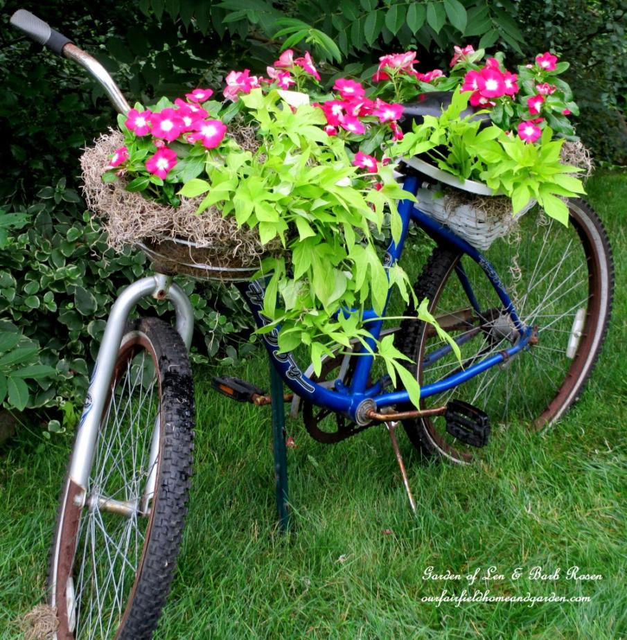 DIY Tutorial - making a bicycle planter with an old bike