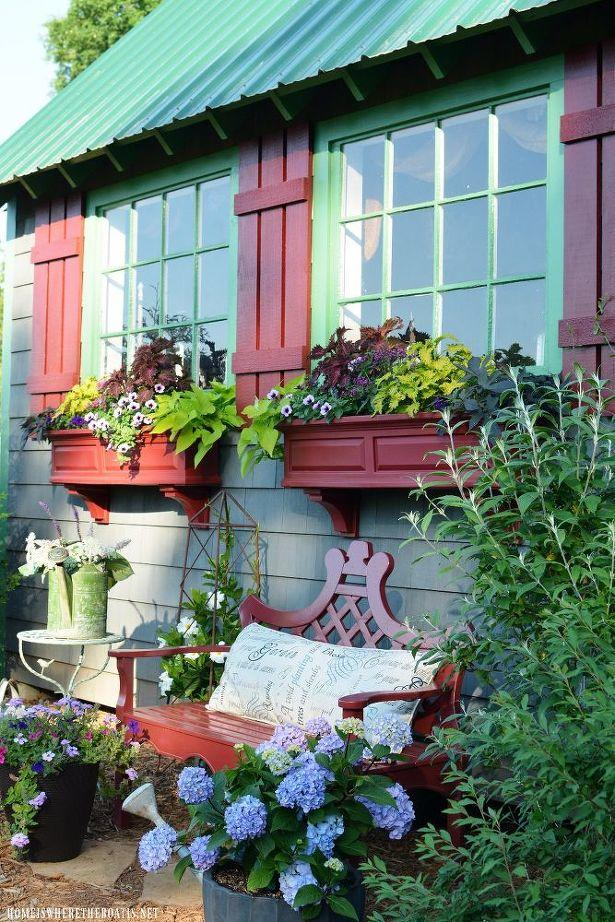 How to Make DIY Shutters for the Potting Shed
