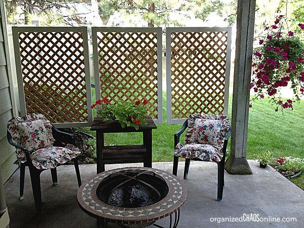 Use lattice panels to make an easy patio privacy screen