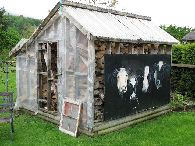 Firewood Shed Decor