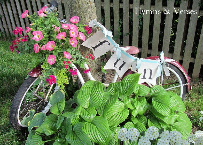 Fun idea with Bicycle Planter
