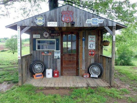 Rustic Shed Decor for Him