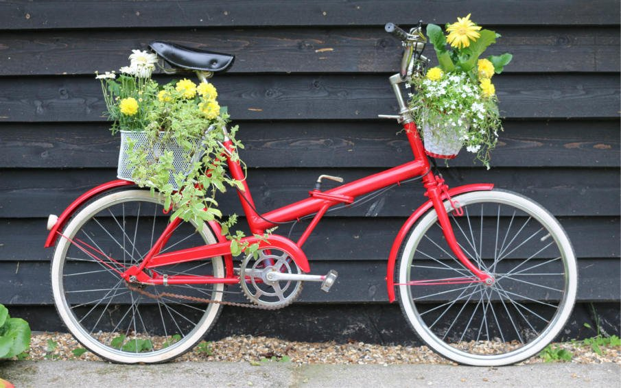 How to create a Vintage bicycle planter
