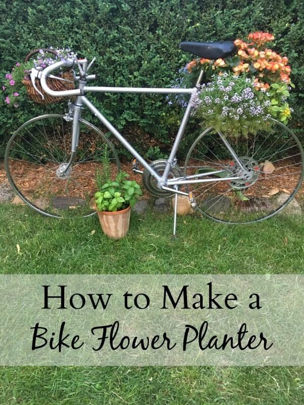 How to make a bike flower planter