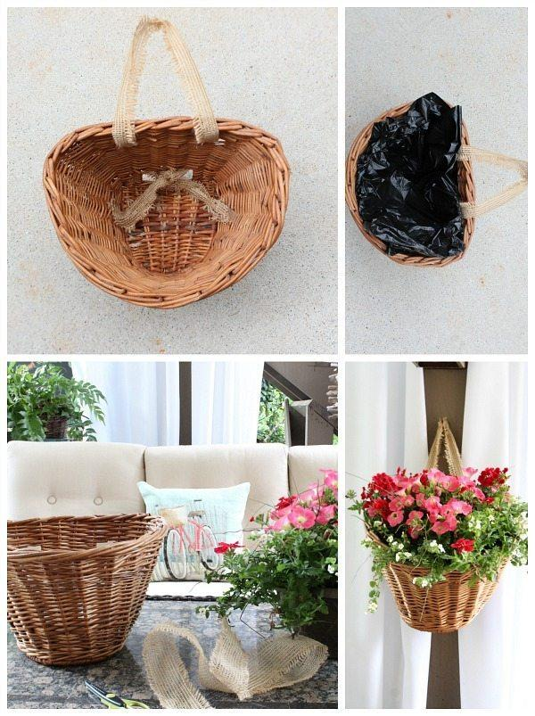 How to make a Bicycle Basket Planter
