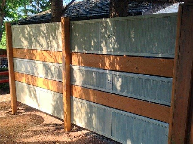 Repurpose Old Louvered Doors into garden screen
