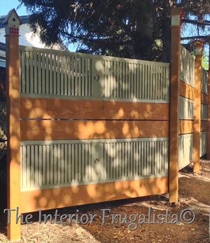 Old Louvered Doors made into garden screen