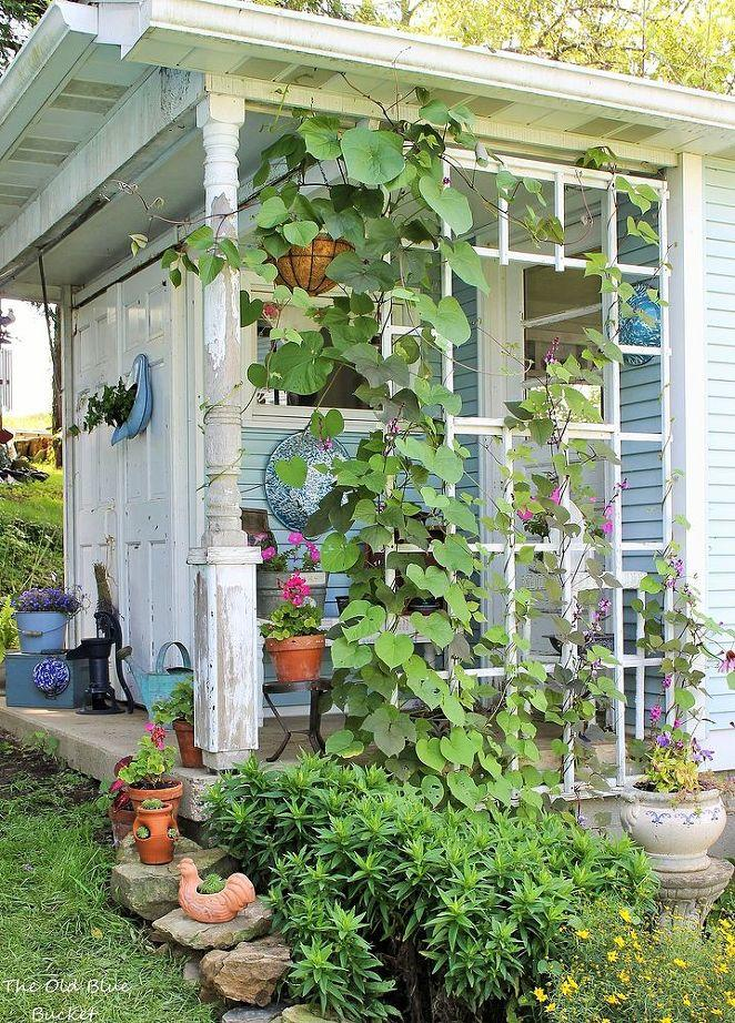A decorating idea - add a trellis to your shed