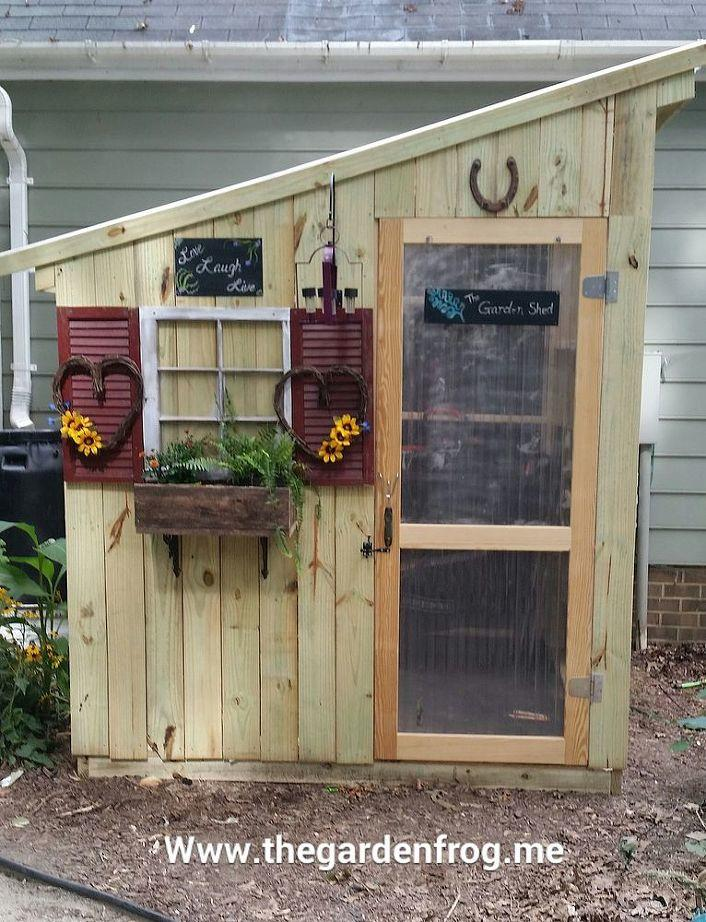 Decorating Idea on a budget for a small garden shed