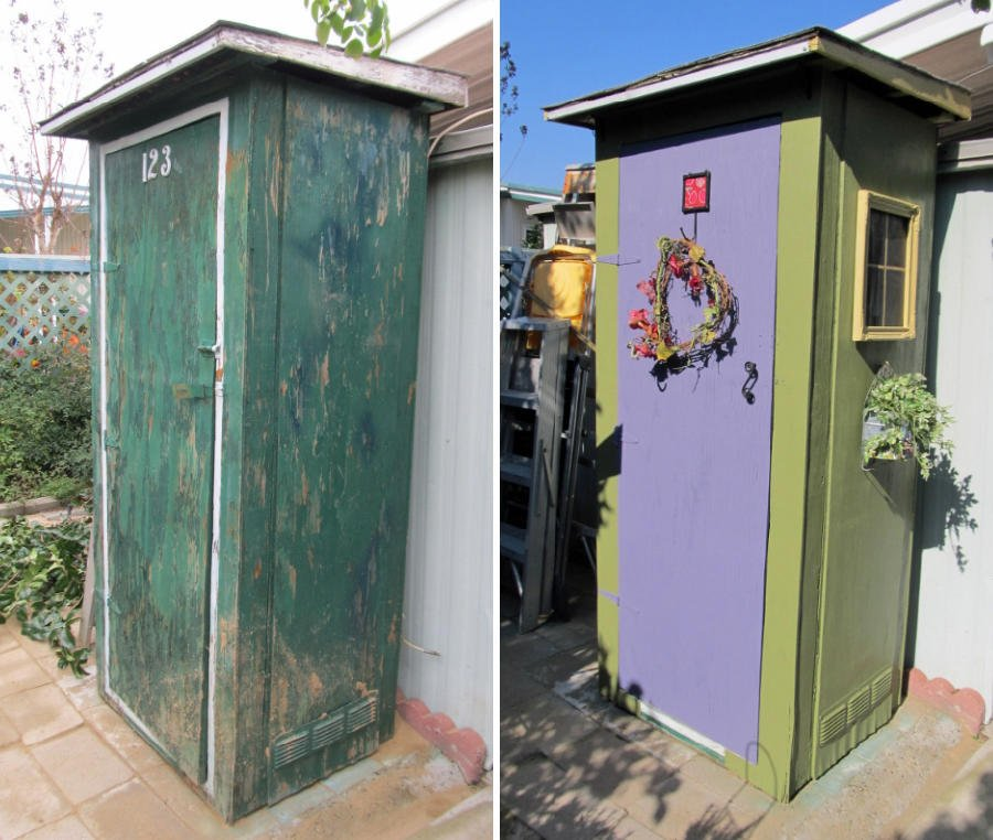 Garden Tool Shed Makeover Idea