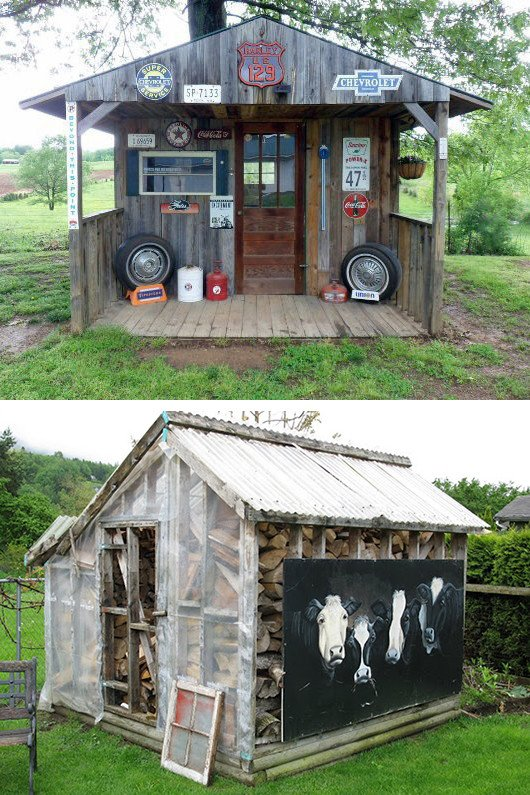 Garden shed decor ideas for Spring or Fall