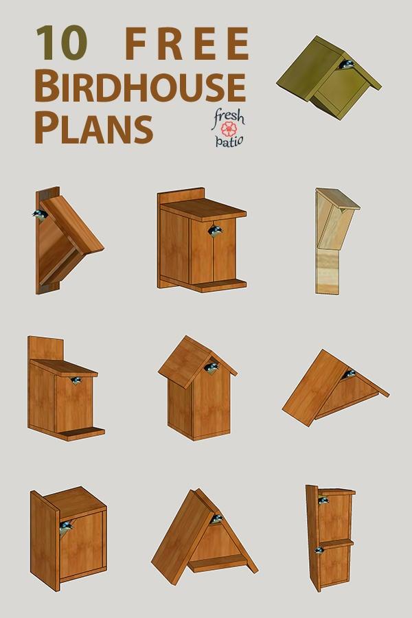 10 Simple Birdhouse Plans