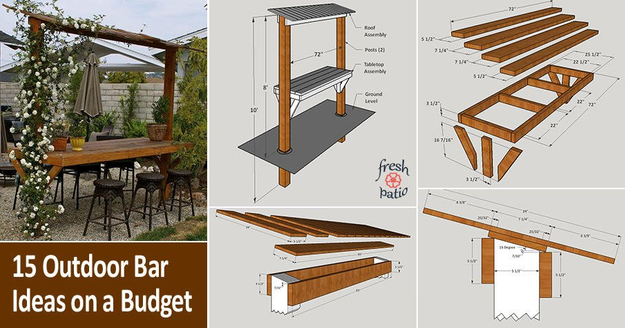 15 Outdoor Bar Ideas On A Budget Plans Diy Tutorials Images