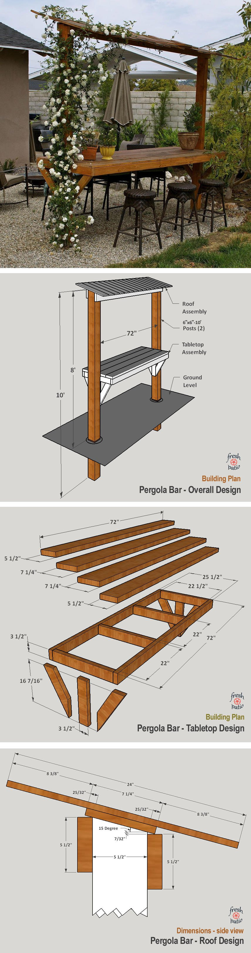 An outdoor pergola bar design - a complete DIY building guide