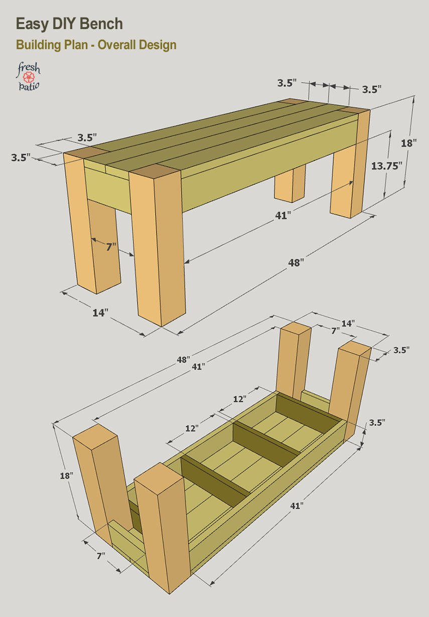 Easy DIY Bench - Building Plan