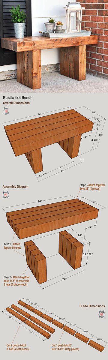 Rustic Bench Plan