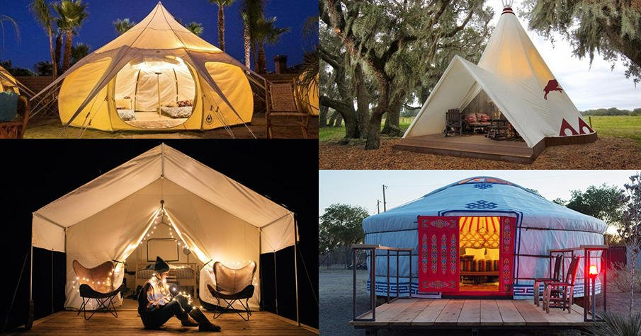 Backyard glamping ideas