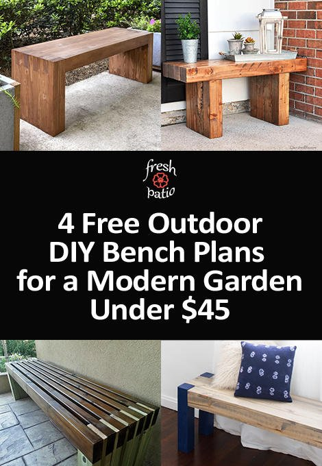 FREE DIY Outdoor bench plans