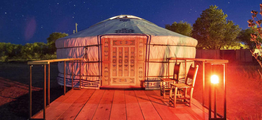 Texas yurt with Central Asian style