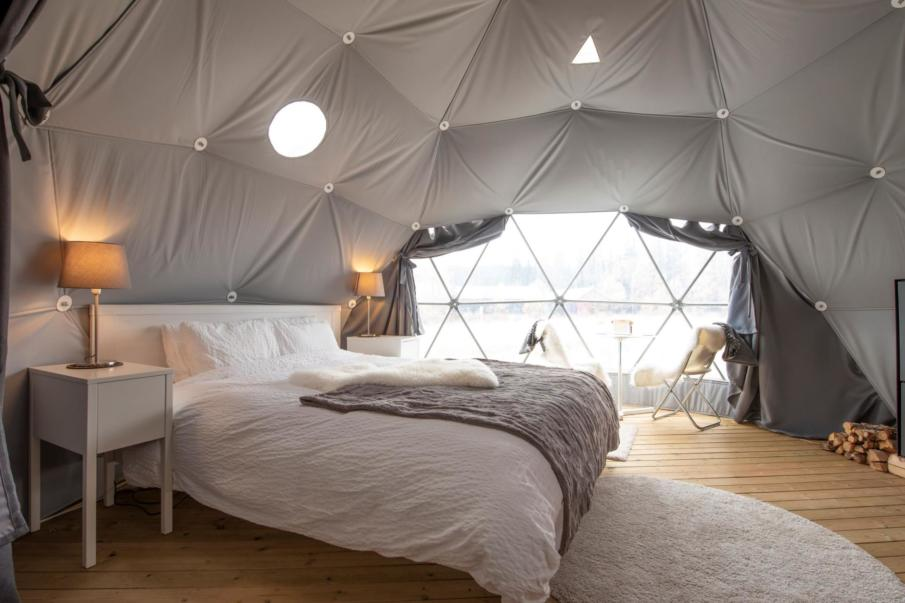 The interior of these domes can be super sleek.