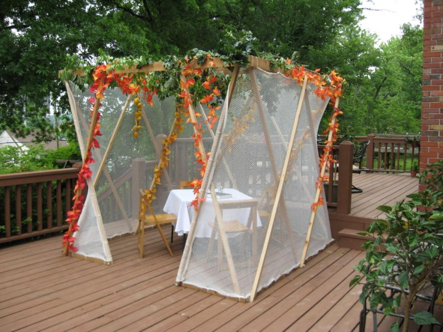 A sukkah made from Kit