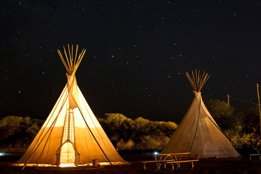 Teepees are the new thing in glamping