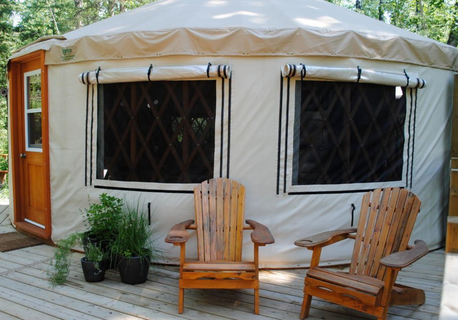 Backyard yurts are easy to build