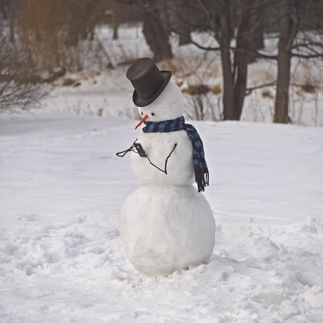 The Hipster Snowman