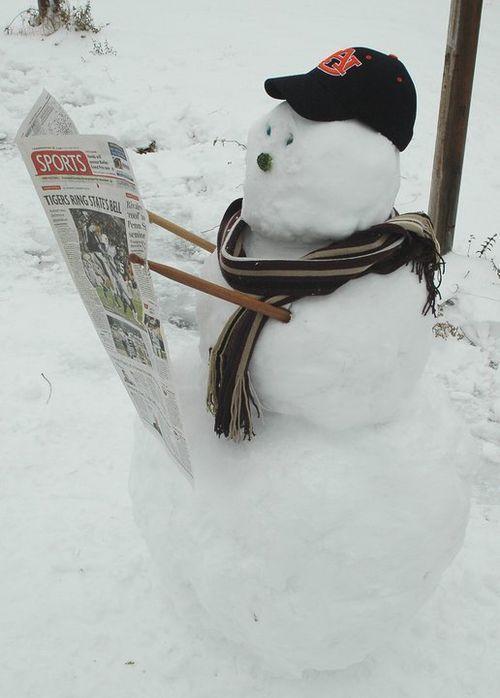The Sports Fan Snowman