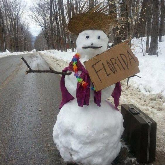 The Hitch-hiking Snowman