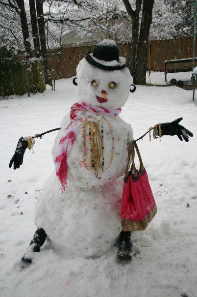 Night On The Town Lady Snowman