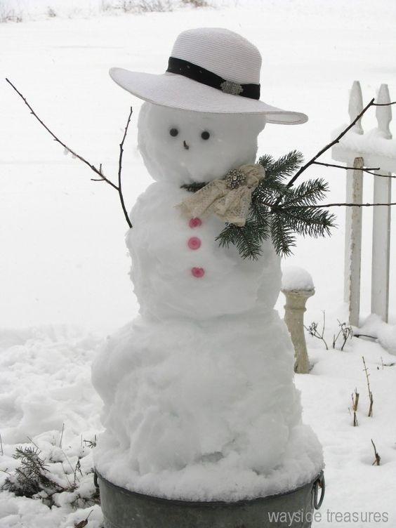 Fashionista snowman
