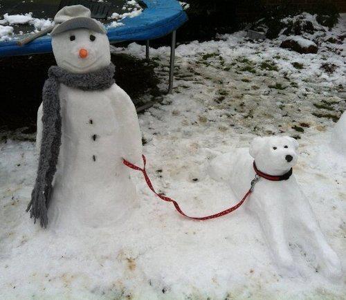 Family Pet Snowman
