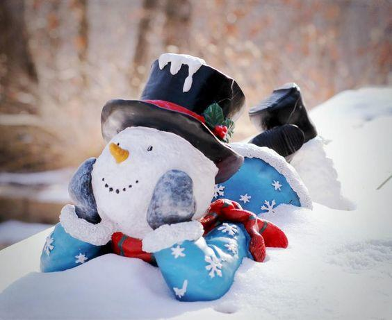 Great real snowman idea