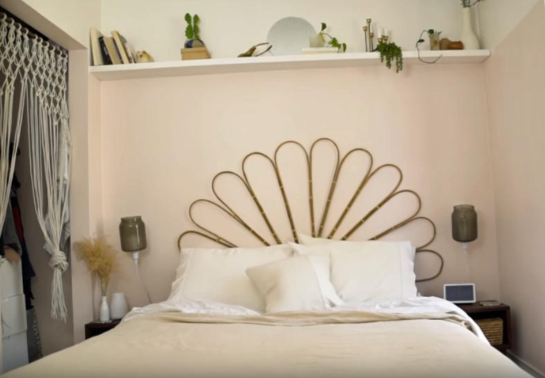 DIY Headboard Made from Bamboo - The Sorry Girls video tutorial