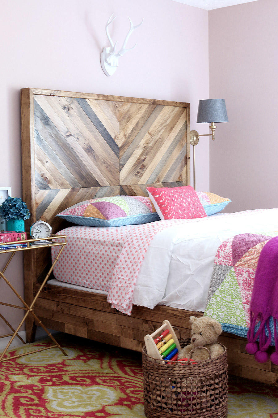 This tutorial covers both the Headboard and the Bed