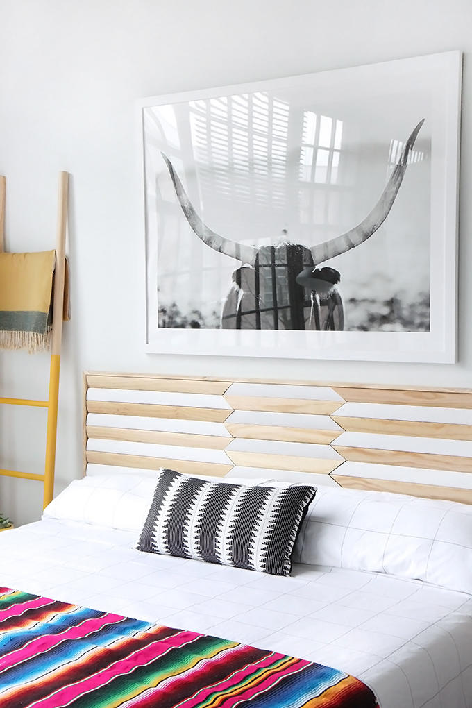 DIY tutorial to make a headboard from casing molding