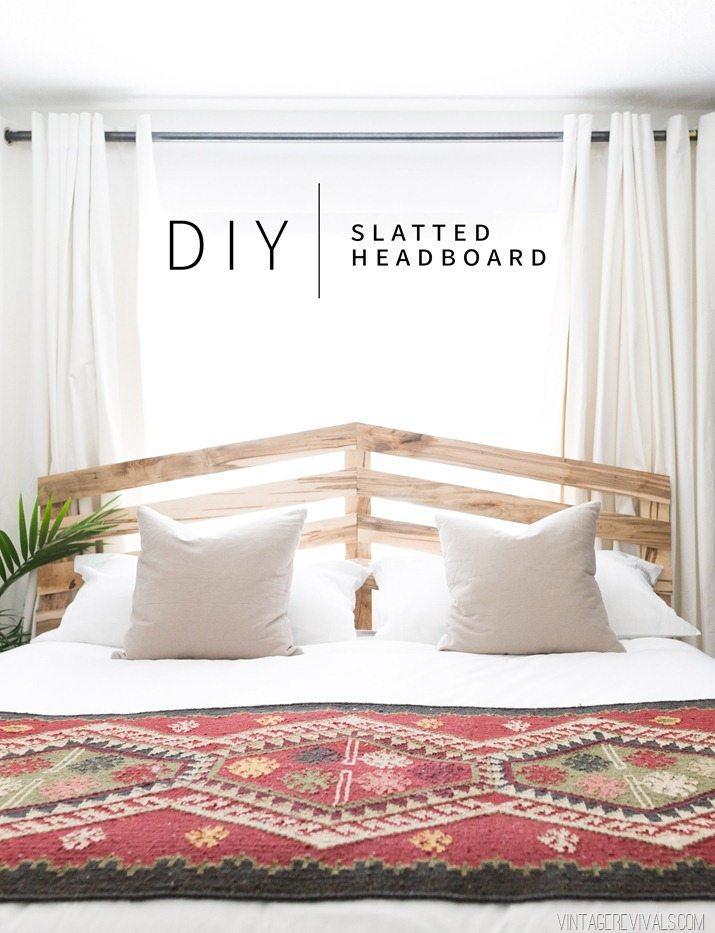 $70 DIY Slatted Headboard Tutorial