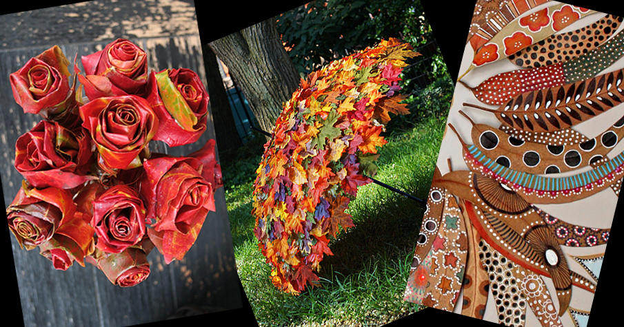 DIY Autumn Leaf Decorations