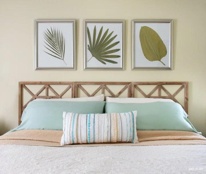 Headboard made from Decorative Wall Panels