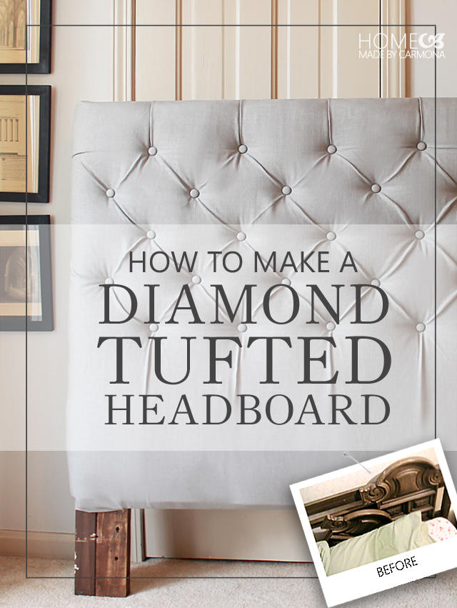 DIY Diamond Tufted Headboard by HomeMadeByCarmona