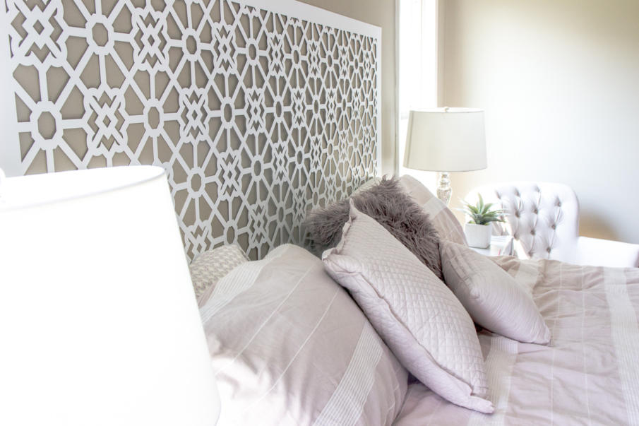 This headboard looks much more expensive than it costs to make