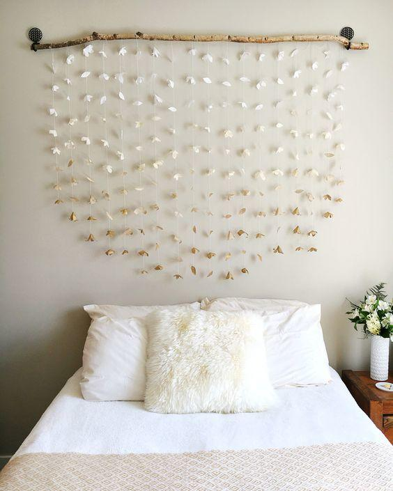 Paper Flower Garland headboard