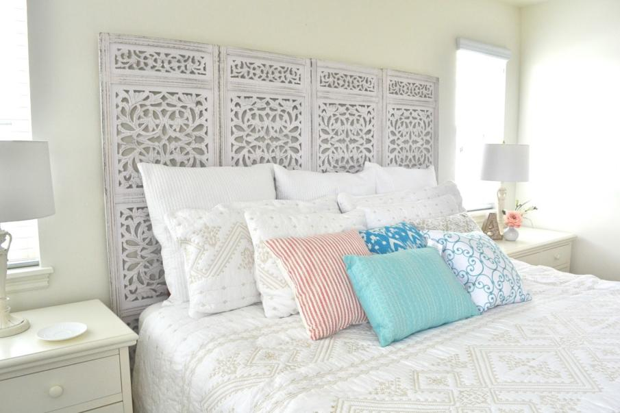 Privacy Screen to Headboard DIY